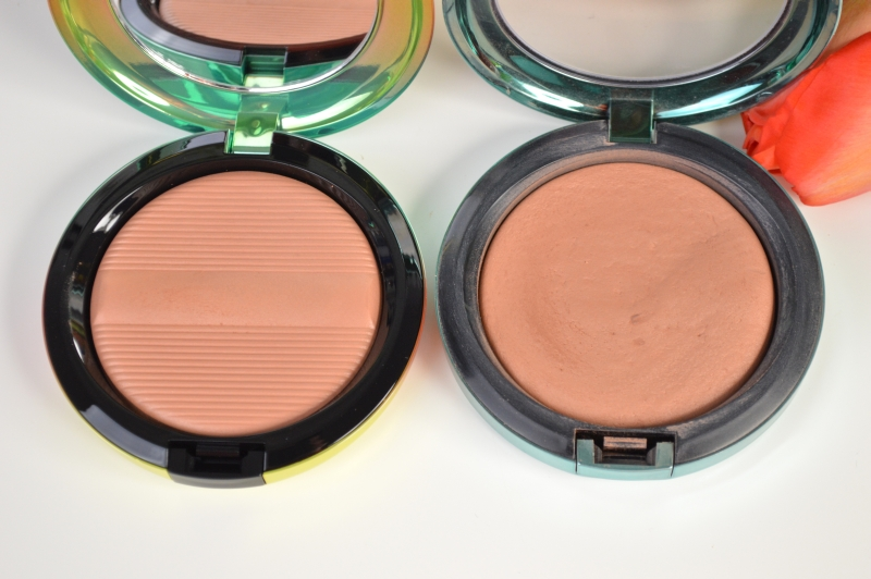 MAC Wash & Dry Golden Rinse Studio Sculpt Defining Bronzing Powder vs. MAC Aphrodite's Shell Bronzer