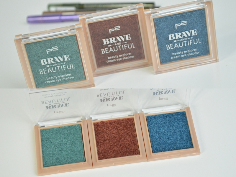 Shopping August 2015 P2 Brave and Beautiful LE Cream Eye Shadow Turquoise River, Orange Lava, Blue Canyon