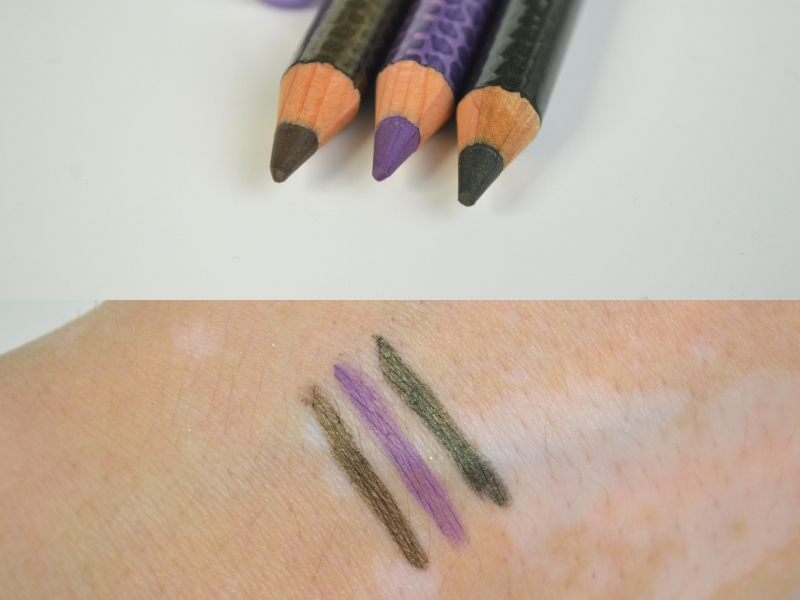 Shopping August 2015 P2 Brave and Beautiful LE Kajal Rough Ochre, Extreme Indigo, Brave Green Swatches