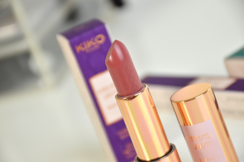 KIKO Intensely Lavish Lipstick 02 Pretty Mauve Rebel Romantic LE