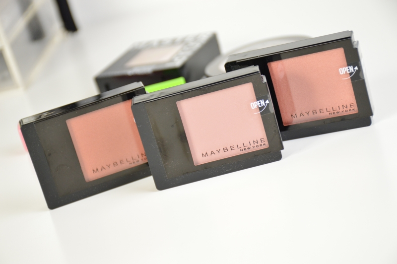 Maybelline Facestudio Blushes Brown, Pink Amber, Coral Fever