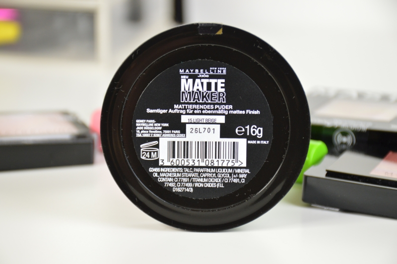 Maybelline Matte Maker Mattifying Powder in Light Beige Review