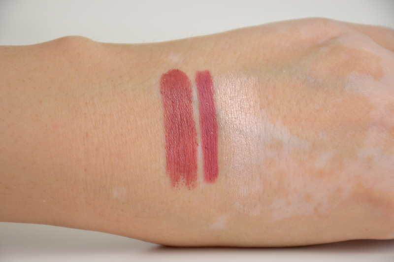 Swatches KIKO Intensely Lavish Lipstick 02 Pretty Mauve Lip Pencil  01 Lusty Peony Metallic Shine Eyeshadow  01 Suberb Beige Rebel Romantic LE