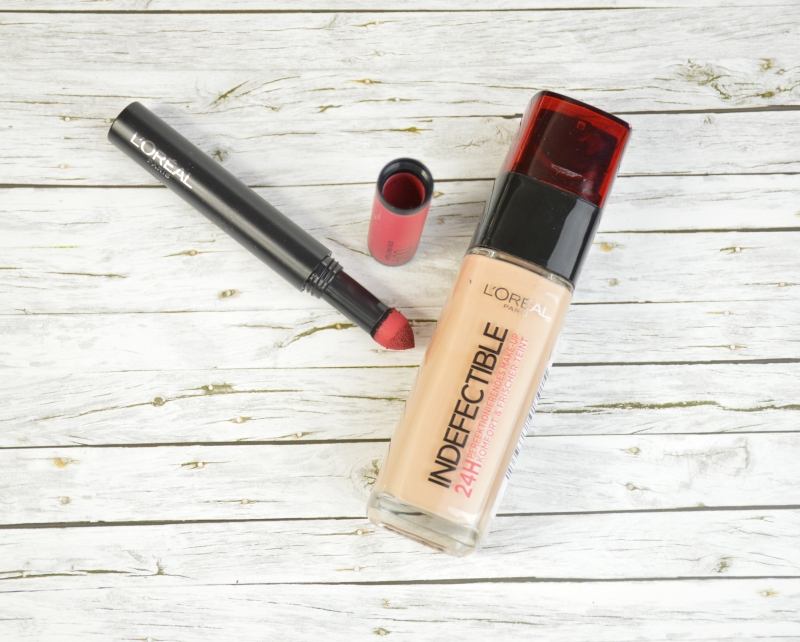 Review: L'Oreal Indefectible Foundation & Lippenpuder in Oops I Pink It Again