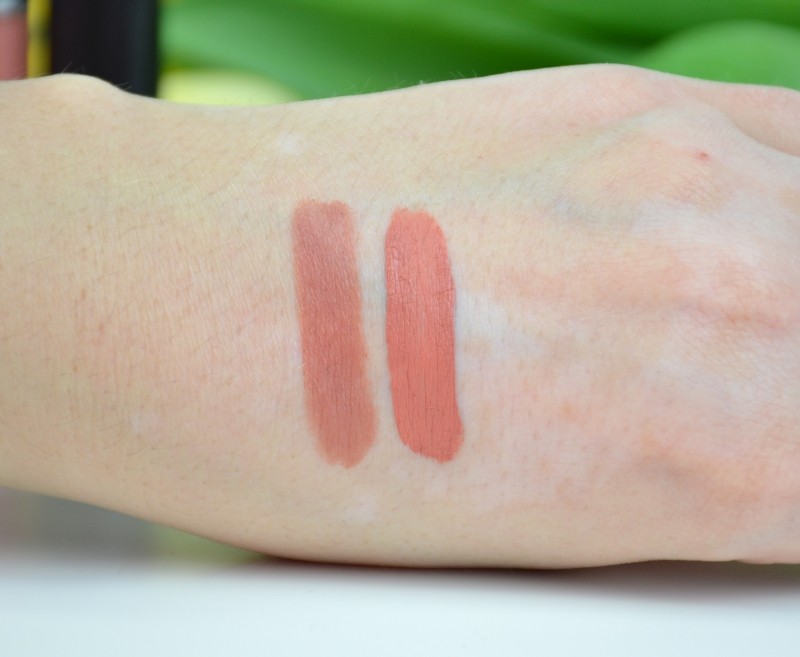 MAC Matte Lippenstift Velvet Teddy Retro Matte Liquid Lipcolor Back in Vogue Swatches