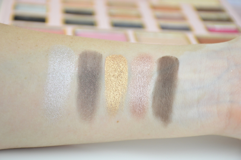 Too Faced Le Grand Palais Lidschattenpalette Reihe 3 Swatches