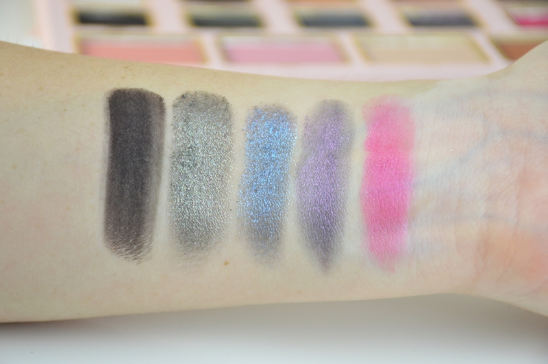 Too Faced Le Grand Palais Lidschattenpalette Reihe 4 Swatches