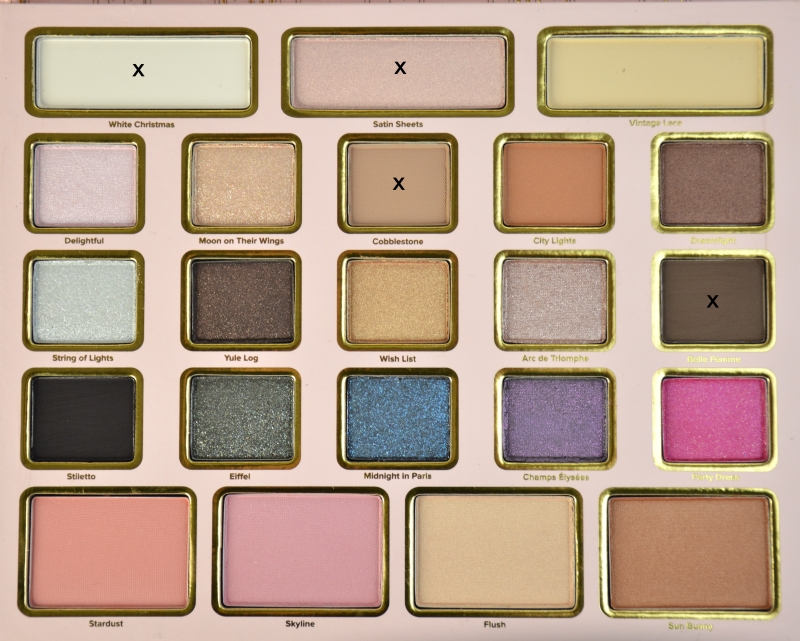 AMU 1 Too Faced Le Grand Palais Palette POTD