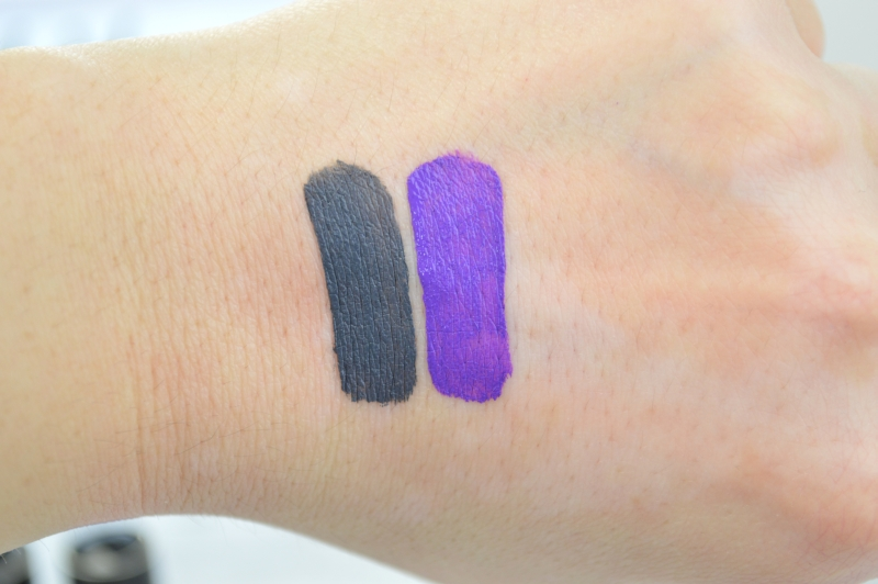 NYX Liquid Suede Stone Fox Amethyst Swatches