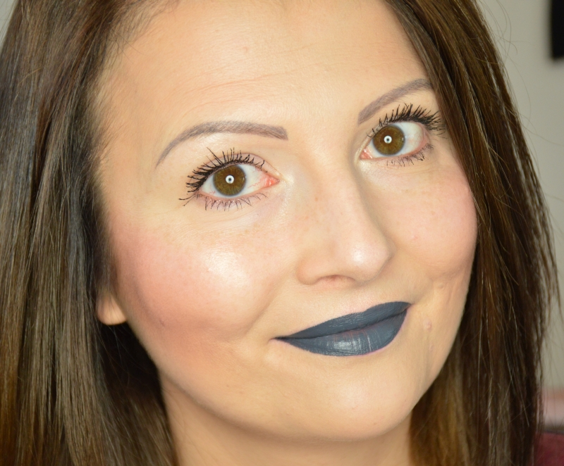 Tragebilder NYX Liquid Suede Cream Lipstick Stone Fox Review