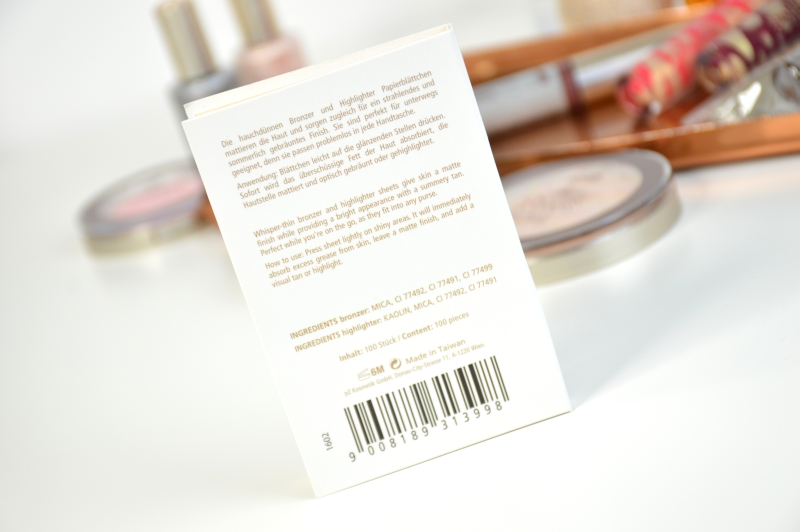 P2 Bronze & Highlight Blotting Papers Sunshine Goddess LE Review
