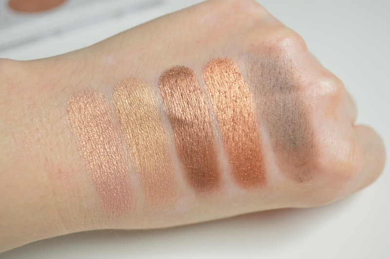 Swatches Reihe 2 Lidschatten bhcosmetics Carli Bybel Eyeshadow & Highlighter Palette