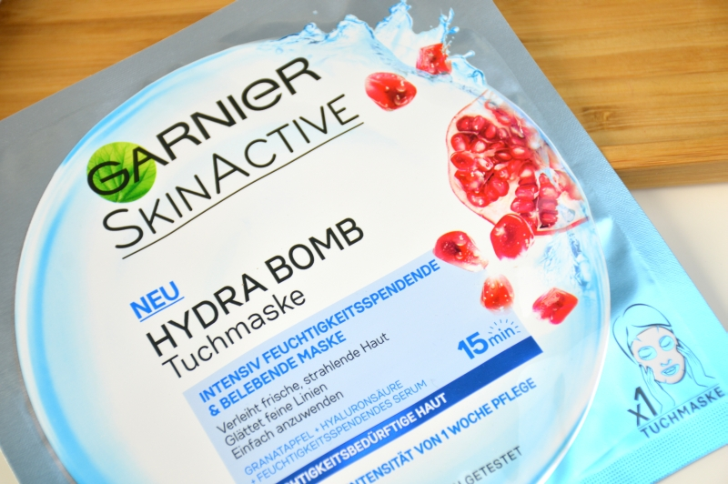 Garnier Skin Active Hydra Bomb Tuchmaske Review Maske PR Sample