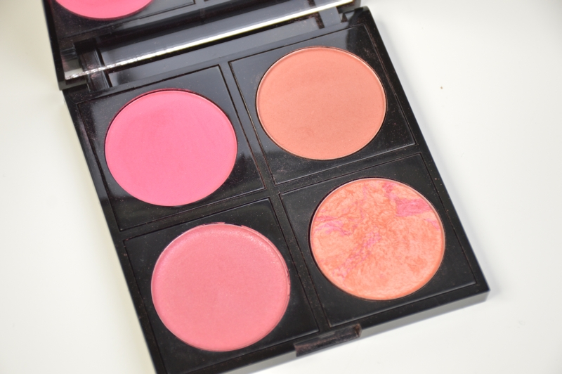 Blogsale Mikalicious Fashionista Blushpalette Cinnamon, Blushing Coral, London, Crimson Beauty