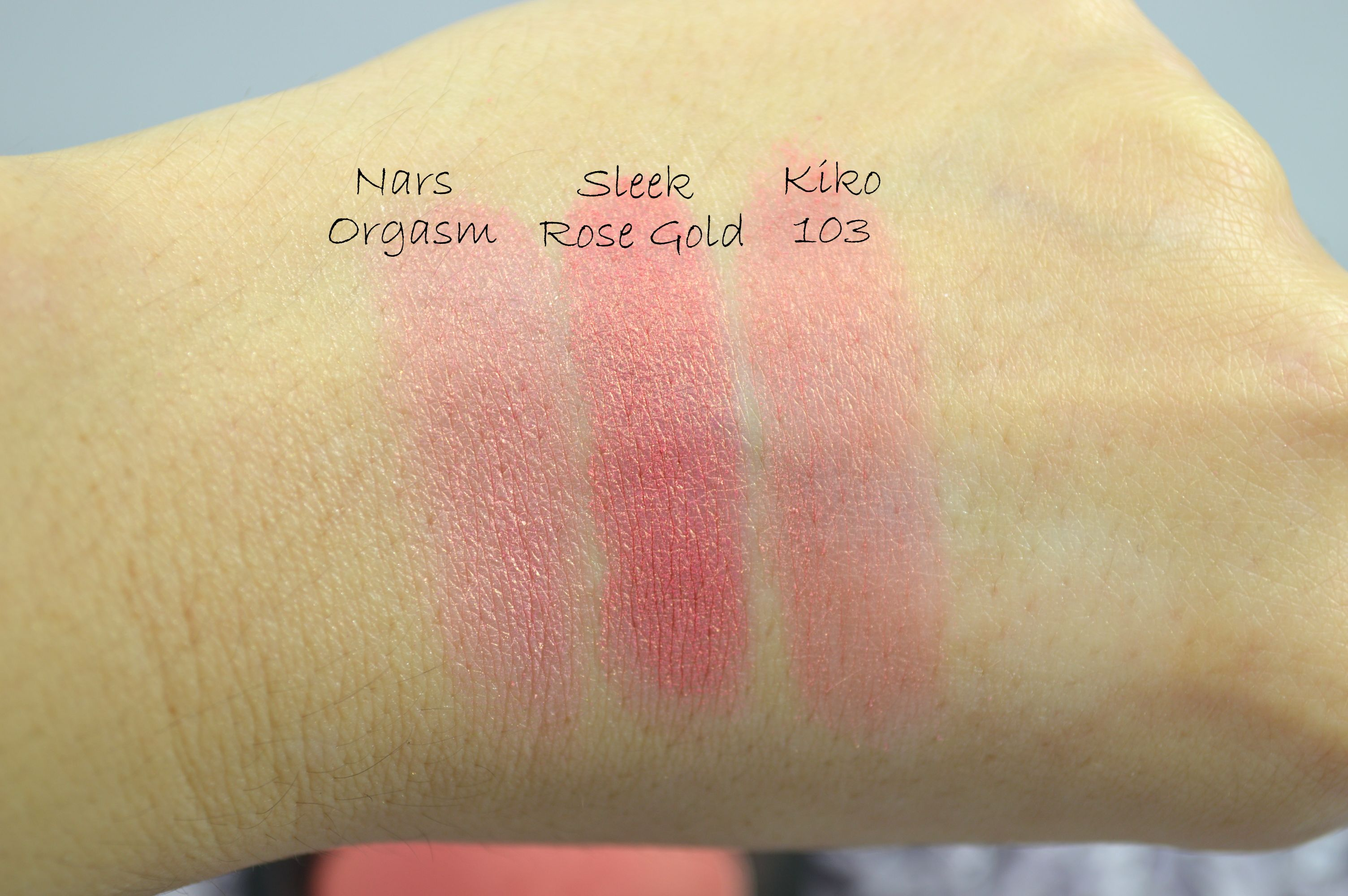 Dupe Nars Sleek Kiko Swatches