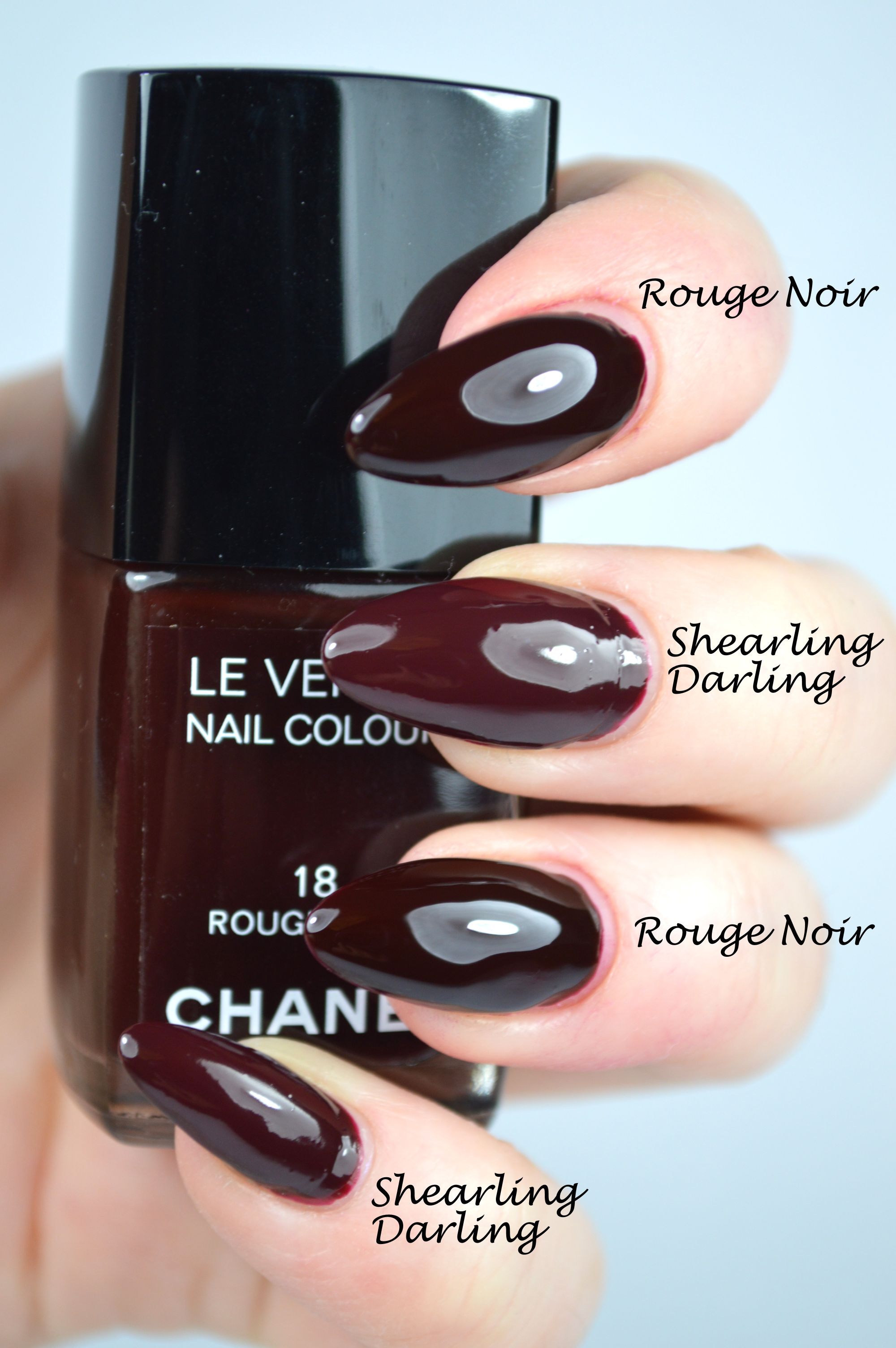 Essie Shearling Darling Chanel Rouge Noir Dupe Review