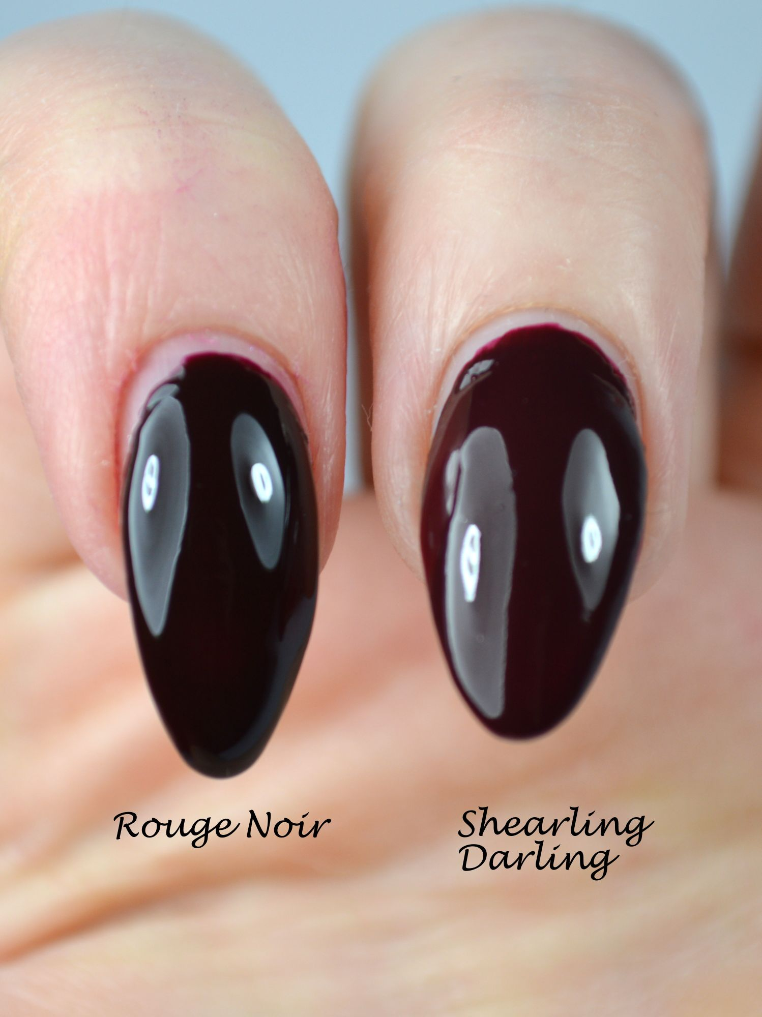 Essie Shearling Darling Chanel Rouge Noir Dupe