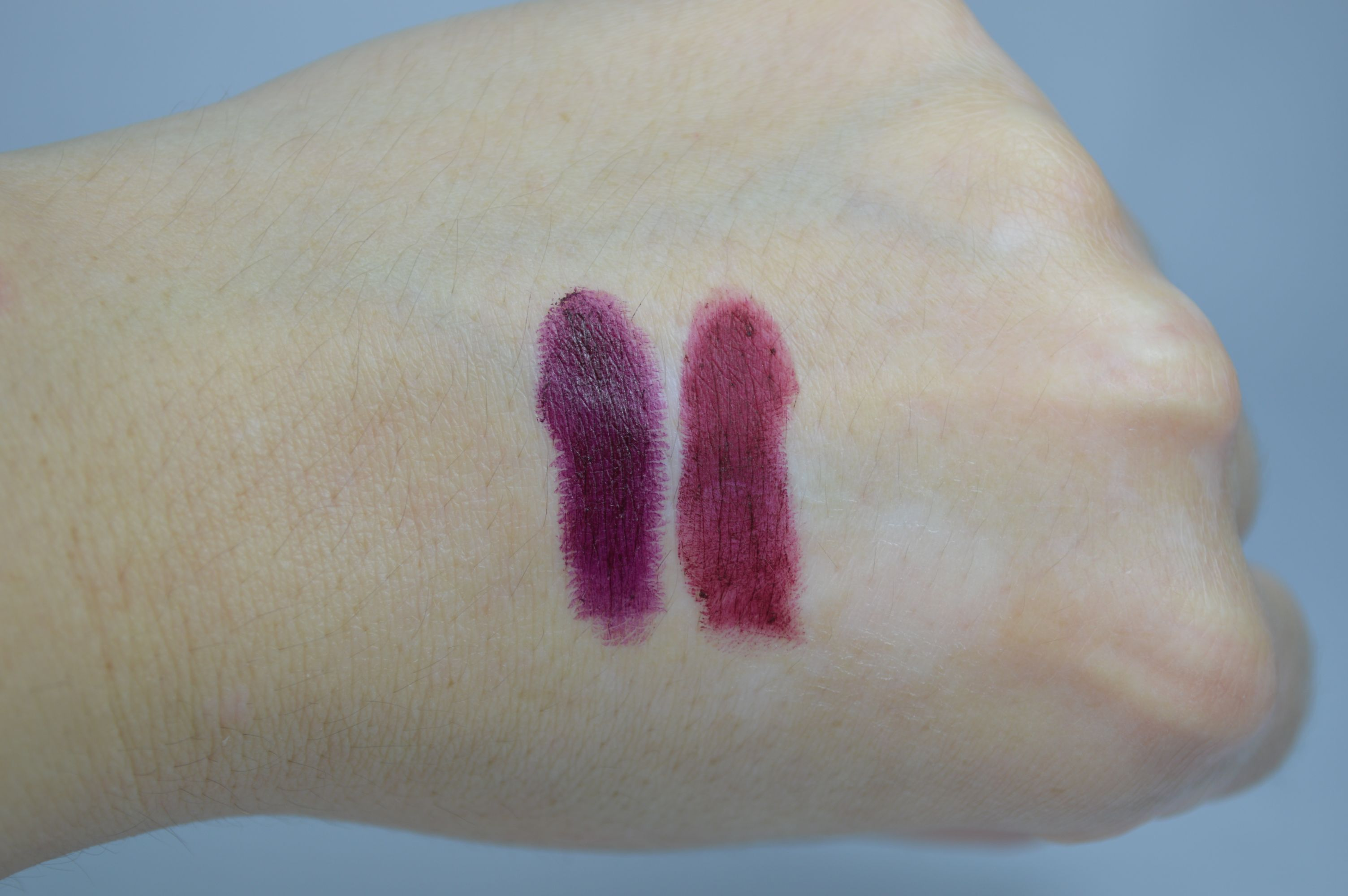 P2 Violet Dream MAC Talk That Talk Swatches