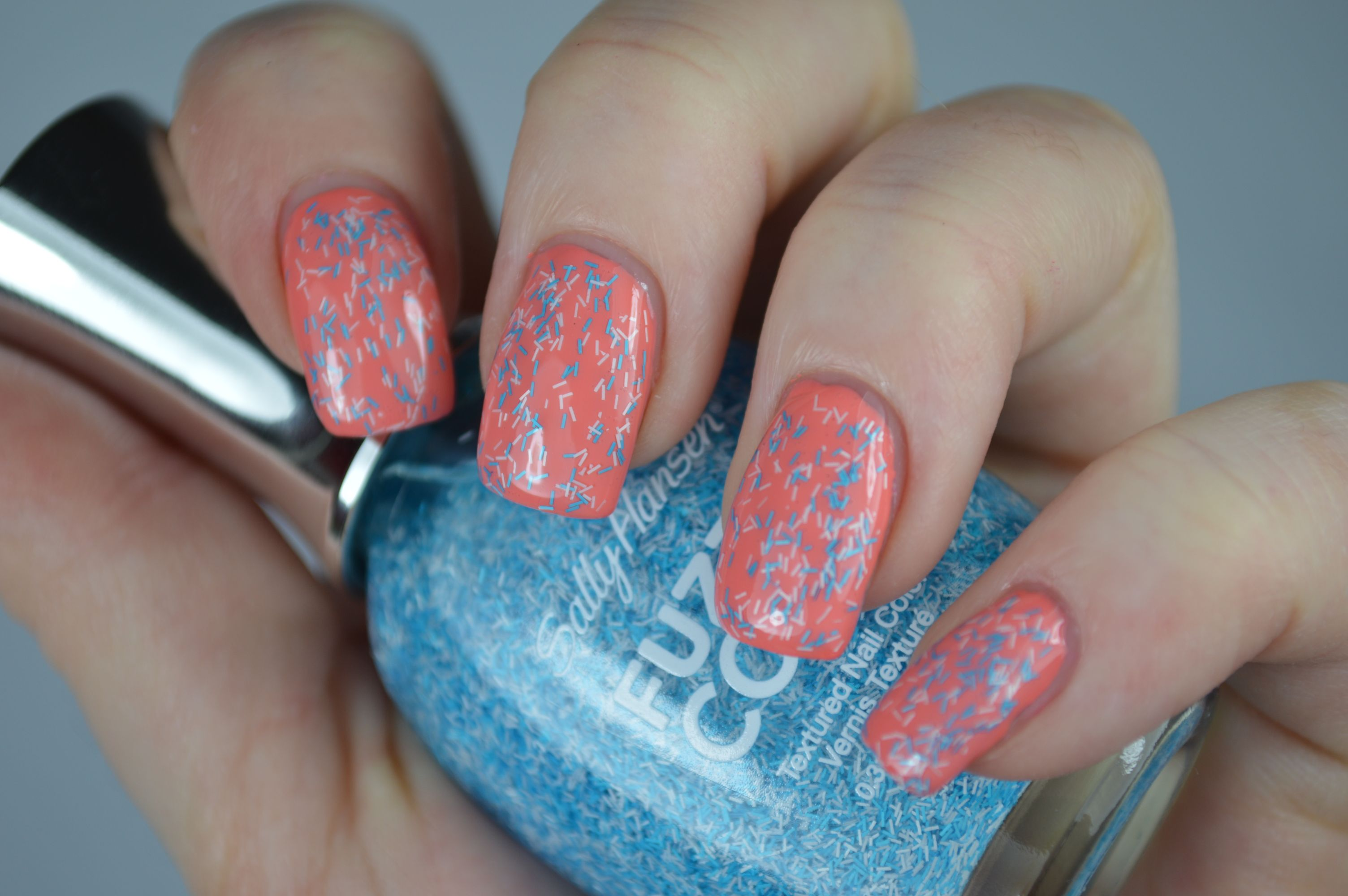 Wool Knot Sally Hansen Fuzzy Coat Peach of Cake Swatches